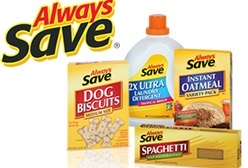 Always Save® is an economic grocery alternative for customers who want the best price with consistent quality.