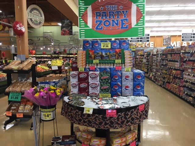 The party zone tailgate display.