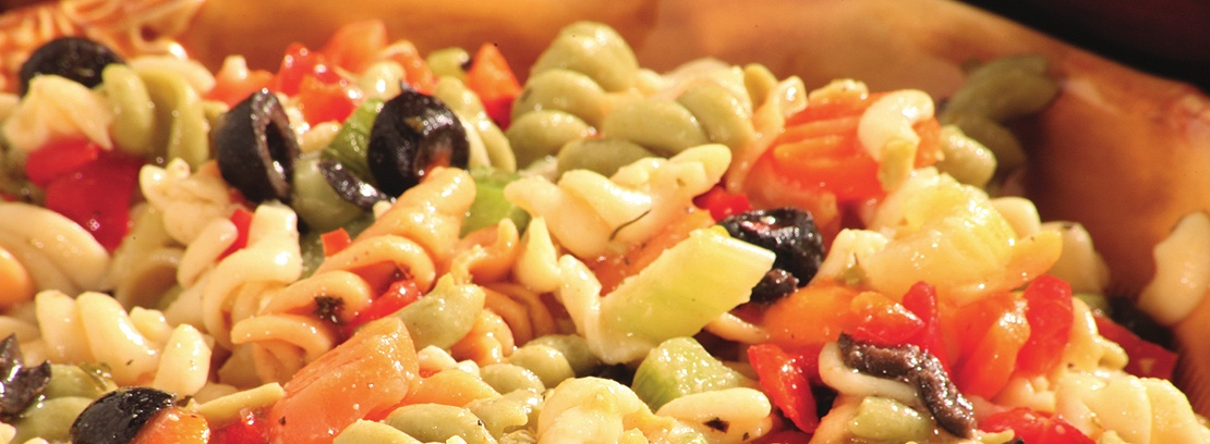 Fresh pasta salad from the Deli