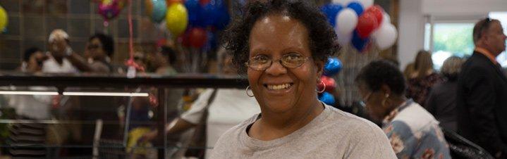 Photo of smiling customer.