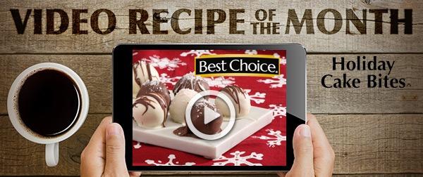 Best Choice Recipe Video: Holiday Cake Bites