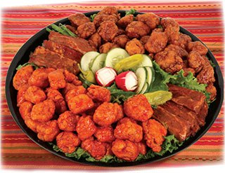 Party Trays - Boneless Wings and Ribs.