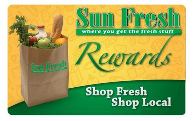 Photo of Sun Fresh Rewards Card