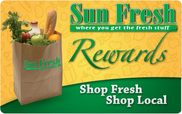 Image of Sun Fresh Rewards Card